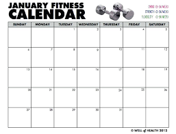 Blank Monthly Workout Calendar Weekly Template Training Post ...