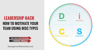 Motivate Leadership How To Motivate Your Team Using Disc Types Management Momentum