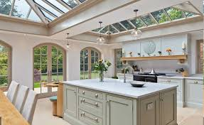 interesting glass roofs on vale garden houses orangery kitchen extension also elegant kitchen island design and unique endant lu design also beoge wall