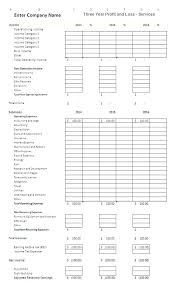 Loss And Profit Form Free Profit And Loss Form Newest Illustration Monthly