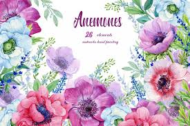Purple Flowers Backgrounds Purple Flower Watercolor Clipart Images Gallery For Free