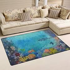 naanle ocean sea animal area rug 3 x5 underwater world polyester area rug mat
