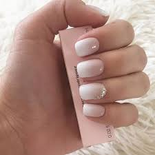 Ombre And Accent Nail Nehty Wedding Nails Bride Nails A Light Nails