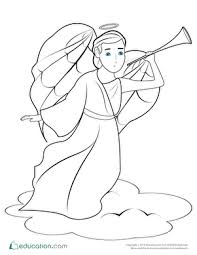 angel coloring pages   education comchristmas angel coloring page
