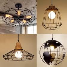 industrial cage lighting. Black White Copper Iron Industrial Cage Light Earth Creative Diamond Loft Ceiling Lights Vintage Restaurant Lighting S