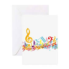 Amazon Com Cafepress Colorful Musical Notes Greeting