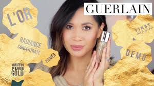 guerlain l or radiance concentrate with pure gold i first impressions demo i everyday edit you