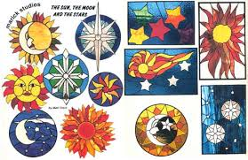 Stained Glass Pattern Books Interesting Sun Moon Stars Stained Glass Pattern Book