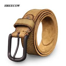 top cow genuine leather belts for men jeans do old rusty black buckle retro vintage mens male cowboy belt ceinture homme lumbar support belt lifting belts