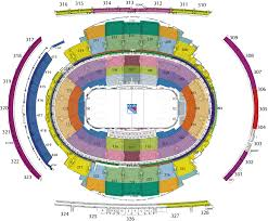 Rangers Seating Chart New York Rangers At Madison Square Garden Tickets