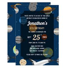 Space Party Invitation Outer Space Theme Birthday Party Invitation