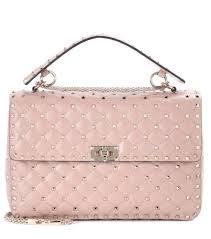 Most Expensive Designer Bag Brands Valentino Pink Rockstud Spike Large Leather Shoulder Bag