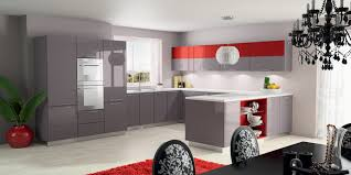 White And Red Kitchen Kitchen Design Red And Grey Kitchen Ideas Contemporary U Shape