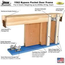 pocket door frame 1562 kit byp