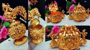 Gold Kumkum Box Designs With Price Matte Finished Designer Kumkum Box With Price Details Youtube