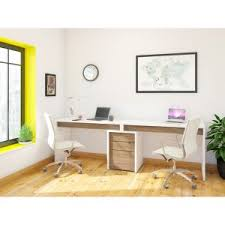 dual desks home office. Exellent Home Nexera LiberT 2 Person Desk With Filing Cabinet  White And Espresso For Dual Desks Home Office
