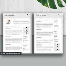 Editable Resume Template Job Cv Template Professional Word Resume Design 2019 2020 College Students Interns Fresh Graduates Professionals Mia