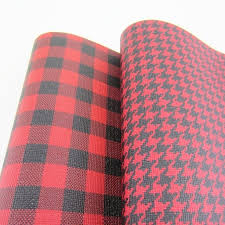 30cm x 138cm red pu synthetic faux leather fabric colored leather strips bird pattern plaid pattern for bows