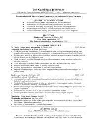 Sports Management Resume Examples Sports Resume Examples Examples