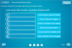 Blue Coloured Drag And Drop Storyline Template