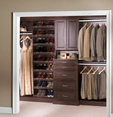 Organizing A Small Bedroom Closet White Wooden Closet With Space For Hanging Clothes And Shoes With