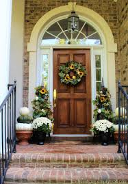 fall front door decor something diffe for fall front door decor