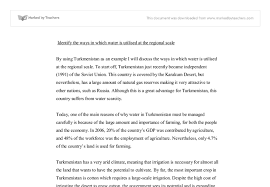 turkmenistan case study international baccalaureate geography  document image preview