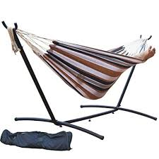 steel hammock stand. Perfect Hammock PG PRIME GARDEN 9u0027 Double Hammock With Space Saving Steel Stand  Elegant Desert In Stand