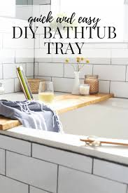 a quick and simple diy bathtub tray and ipad holder an easy modern project