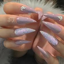 Pointy Nails Designs With Diamonds 10 Of The Best Nails Art Instagrammers Nails Gucci Nails