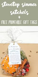 Free Printable Favor Tags Stovetop Simmer Satchels Free Printable Gift Tags The