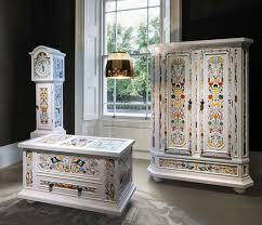 hand painted furnitureColorfully HandPainted Furniture  Altdeutsche Collection