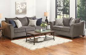 albany collection pewter living room set sofa loveseat