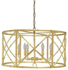 worlds away zia bamboo chandelier gold leaf