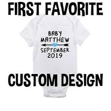 Details About Custom Boy Gender Reveal Baby Onesie Shirt Pregnancy Announcement Newborn Gerber