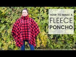 Fleece Poncho Pattern With Hood Inspiration How To Make A Fleece Poncho YouTube