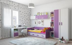 purple and white kids room Interior Design Ideas
