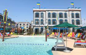 the pool at legoland castle hotel in california