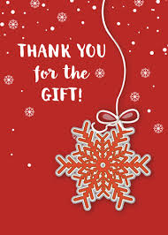 Free E Cards Thank You Thank You For Christmas Gift Free Thank You Ecards