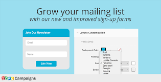email list signup form grow your subscriber base with sign up forms in zoho campaigns