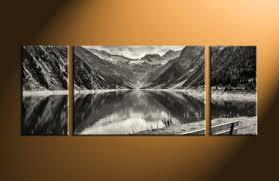 3 piece wall art mountains