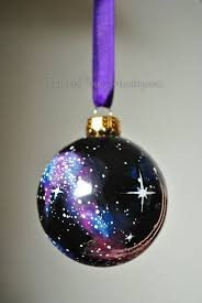 hand painted cosmos ornament by tulaczfinearts