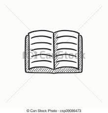 vector open book sketch icon csp39086473