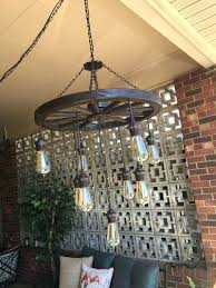 vintage wagon wheel ceiling light chandelier with bulbs by home depot lights pull chains