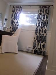 small basement window curtain ideas