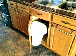 B Trash Cabinet Pull Out Kitchen Garbage Miraculous Can