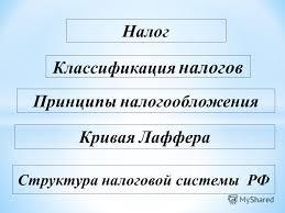 Презентация на тему Налоги Скачать бесплатно и без регистрации  2 Налог Классификация налогов Структура налоговой системы РФ Принципы налогообложения Кривая Лаффера