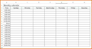 Blank Weekly Calendar Editable Weekly Calendar Template Opusv Co