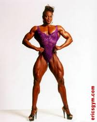 Female muscle bodybuilder legend Christie Wolf mar stats