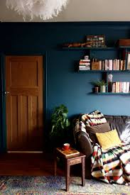 Living Room : Large Size Living Room Blue Wallpaper High Ceiling ...